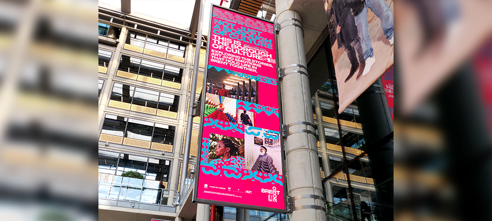 THE FLYING OF THE DIGITAL SIGNAGE FLAGS