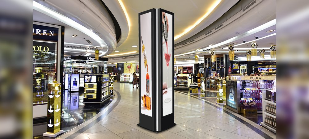 Example Quad Digital Signage Totem for LG 86BH5C